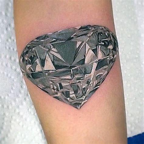 tattoo diamond black and white big natural looking black and white diamond tattoo on arm