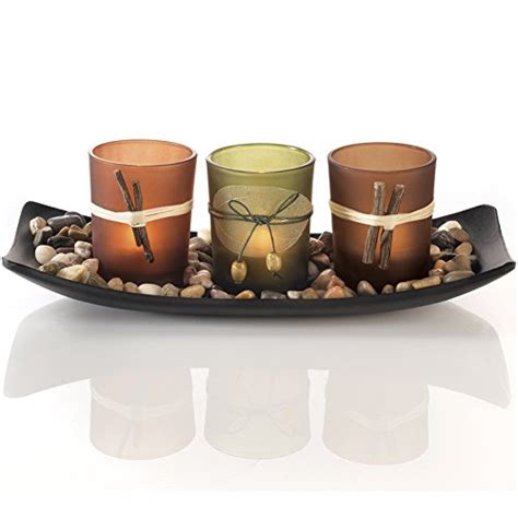 Decorative Candle Tray Candlescape Set 3 Decorative Candle Holders