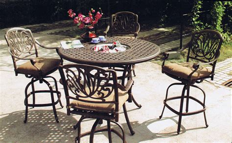 Patio Bar Height Dining Set Elisabeth5piecebarheightdiningsetwithice Outdoor Bar Height Table And Chairs Sosfund