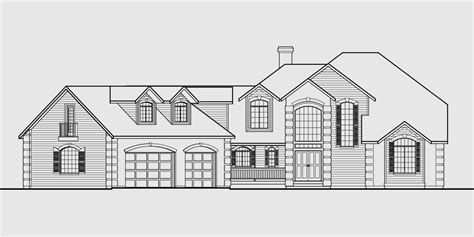 country house plans basement country luxury house plan master on the main bonus 3 car