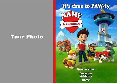 Create Halloween Invitations Online Free Paw Patrol Invitation Template Blank