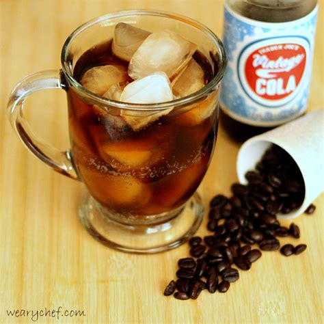 Happy Hour Vanilla Rum Colas by Bright Rum And Cola With Coffee Liqueur The Weary Chef