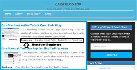 cara membuat readmore blogspot cara membuat readmore di blog gambar agar til