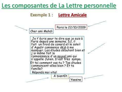 Un Exemple De Lettre Amicale Exemple Lettre Amicale