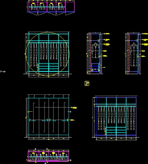 closet details dwg section  autocad designs cad