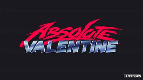 absolute valentine synthwave  text  retro wave