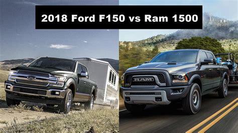 ram 1500 vs 2018 ford f150 vs ram 1500 compare trucks autopromag usa