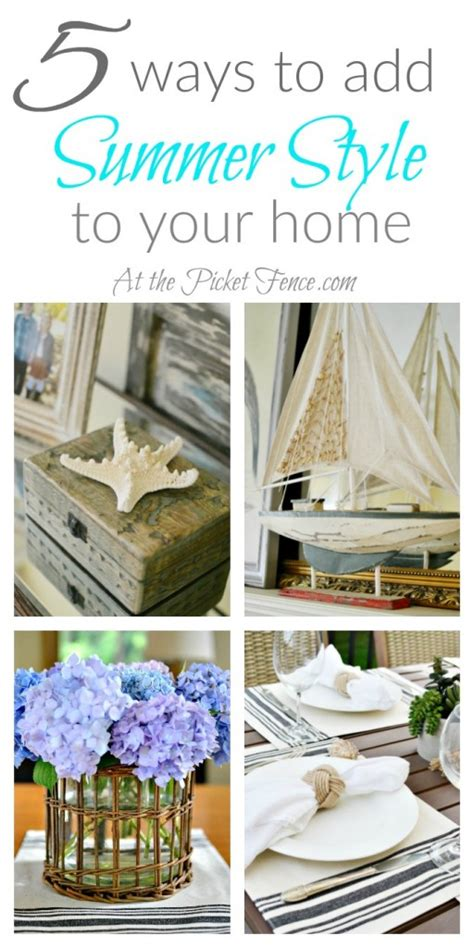 Add Summer To Your Home | five ways to add summer style to your home at the picket