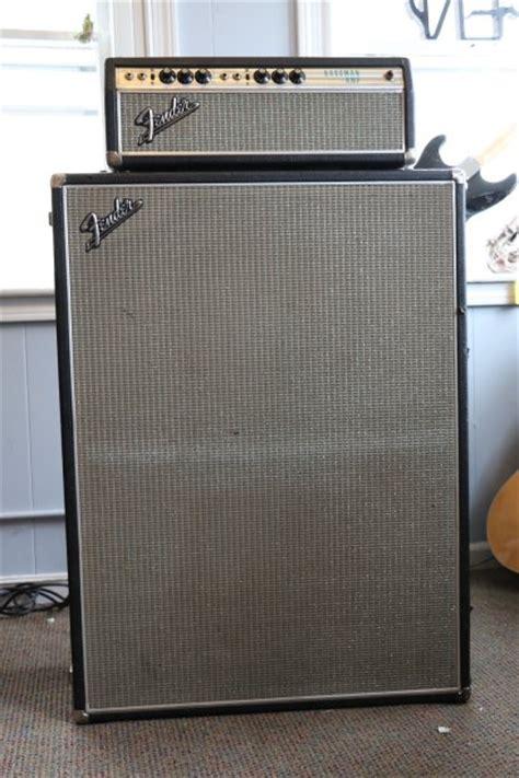 Fender Bassman Cabinet by Fender Bassman Silverface 1968 W 2x15 Cabinet Reverb