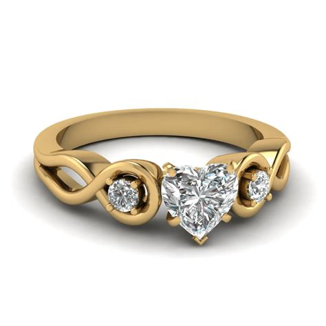 Wedding Rings With Hearts by Affordable 3 Shaped Engagement Rings