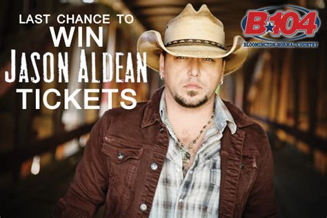 Last Chance To Win This by Jason Aldean Ticket Stop At Joe S Pub Friday B104 Wbwn Fm