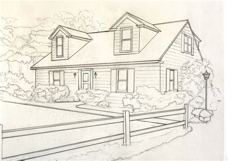 photos drawings of houses drawing art gallery house for catelog drawing b greyscale small kathleen kelley