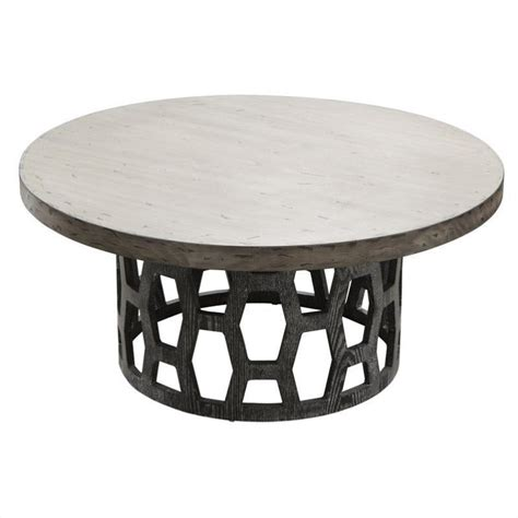 Grey Coffee Table Set by Armen Living 3 Solid Wood Centennial Coffee Table