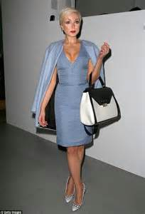 Wedding Wear Dresses Call The Midwife S Helen George Wears Fifties Style Dress At London Fashion Week Daily Mail Online