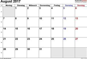Calendar 2017 July August September Kalender August 2017 Als Pdf Vorlagen