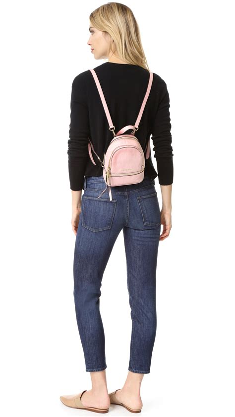 Tas Ransel Michael Kors Mk Rhea Mini Backpack Original michael michael kors rhea mini backpack in pink lyst