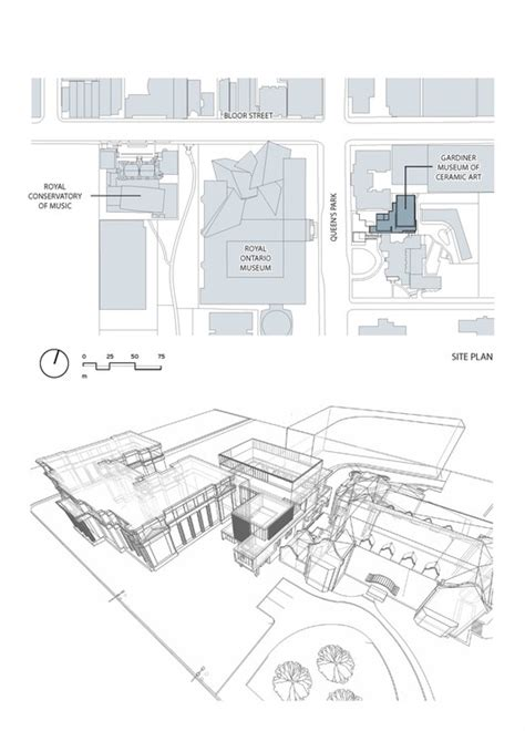 royal ontario museum floor plan the gardiner museum kpmb architects archdaily