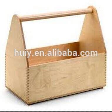 Plain Wooden 6 Bottle Holder With Handle Craft Carrier