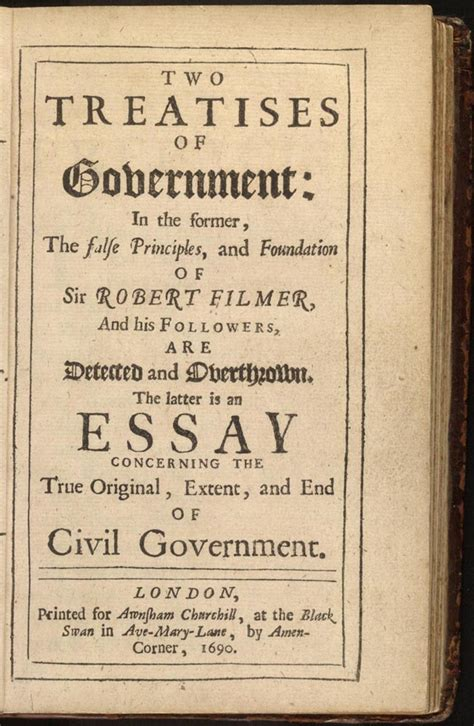 Government And Society Essay by Two Treatises Of Government