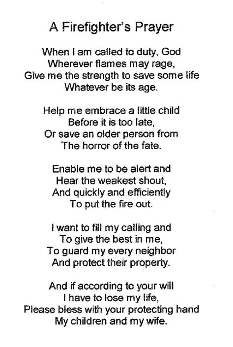 Firefighters Poems