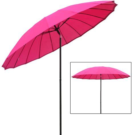 Sun Umbrella Patio Azuma Pink 2 5m Tilting Parasol Sun Shade Garden Patio Umbrella Brolly Ebay