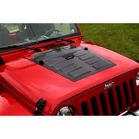 jeep vented hood rugged ridge 17759 10 hood vent insert black 07 15