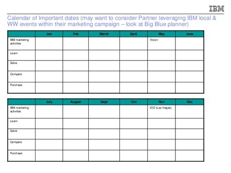 year planning template ibm year go to market plan template