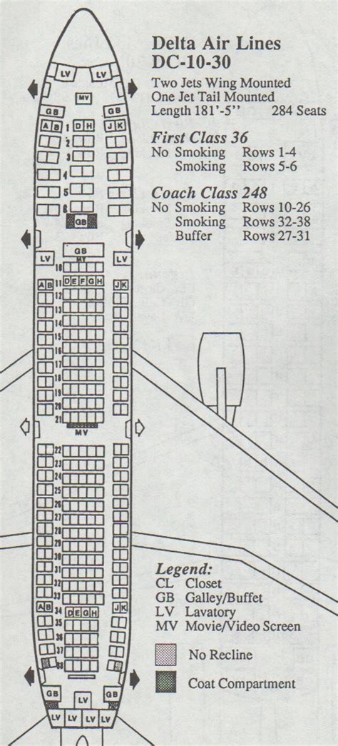dc10 seating plan vintage airline seat maps archives page 7 of 18