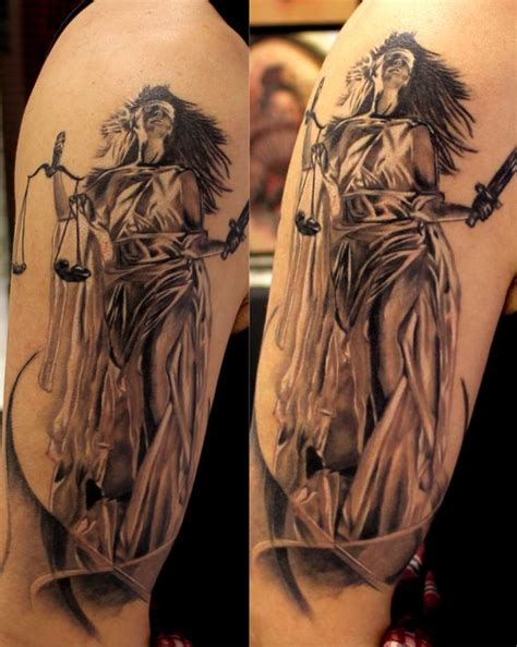 23 lady justice tattoos on sleeve