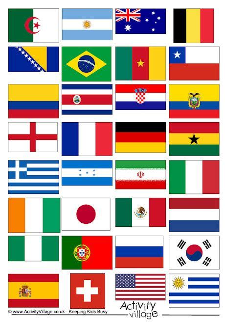 printable flags of the world cup 2014 90 best images about school thema wk 2014 on pinterest