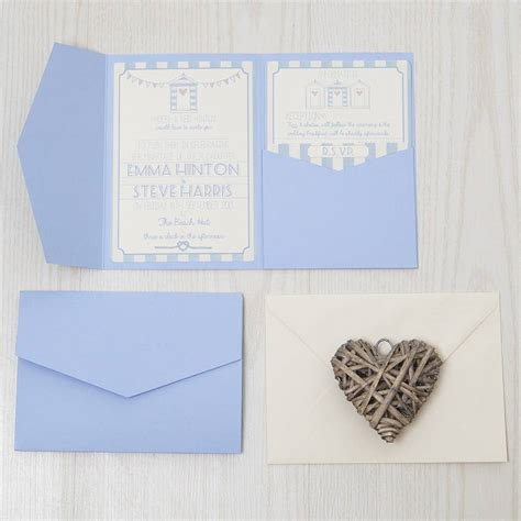 Pocketfold Wedding Invitations by Pocketfold Hut Wedding Invitation By Lovely Jubbly