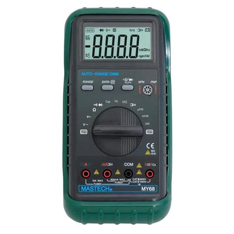Multimeter Mastech mastech my68 3 3 4 3260 counts auto ranging ac dc digital