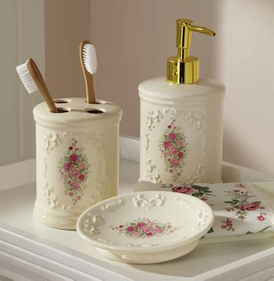 floral bathroom accessories set collections etc find unique online gifts at