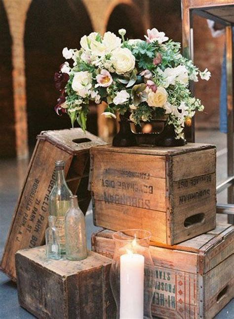 vintage wooden crates wedding decor ideas member board