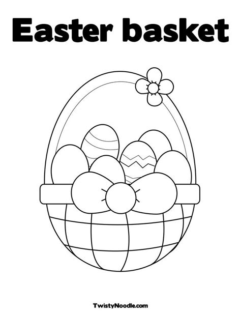 coloring page of empty easter basket coloring page of empty easter basket coloring pages for free