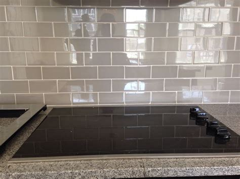 grey subway tile backsplash new house