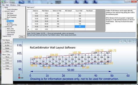 layout photo software recon wall layout software recon retaining walls