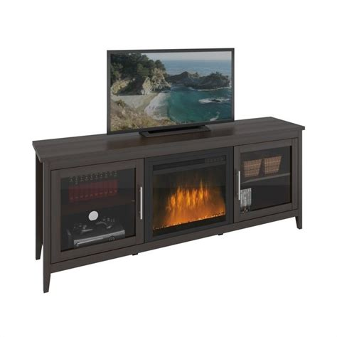Fireplace Bench by Fireplace Tv Bench In Espresso Tfp 684 Z
