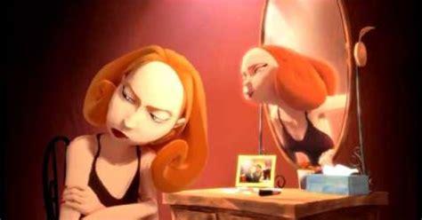 frente al espejo una mujer frente al espejo the reflection of a woman cortometraje animado hd youtube
