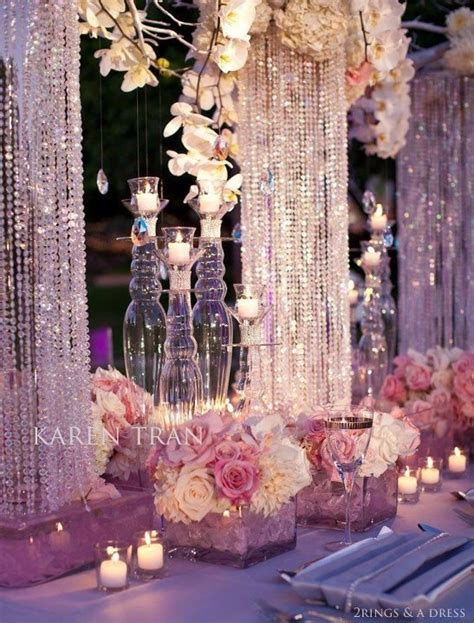 bling centerpieces wedding reception bling bling reception wedding inspiration