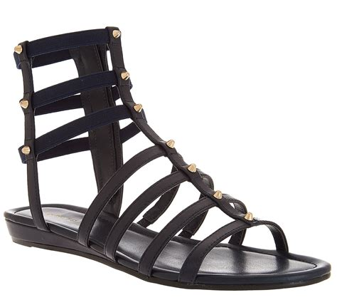 Sandal Preloved Gladiator 1 marc fisher leather gladiator sandals w studs pritty page 1 qvc