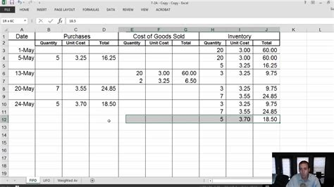 fifo spreadsheet template module 7 2 inventory fifo lifo weighted