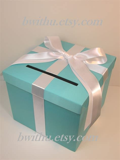 Wedding Box For Cards by Blue Wedding Card Box Gift Card Box Money Box By Bwithustudio