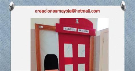 cabina en ingles creaciones mayola puerta aula puerta clase ingles