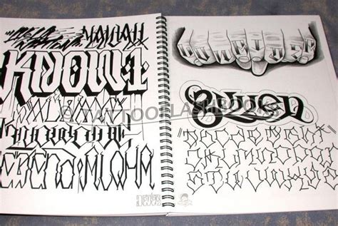tattoo fonts pdf lettering chicano instagram pesquisa letrax