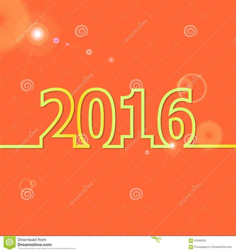 new year 2016 oranges 2016 happy new year on orange background stock vector