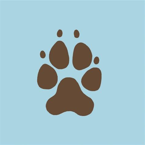 big dogs paws paw prints stencil paws stencil design for walls and crafts