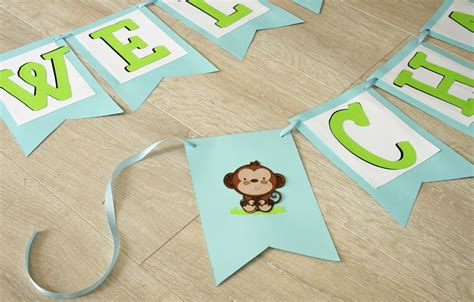 How To Make A Baby Shower Banner by How To Make A Simple Baby Shower Banner Create And Babble