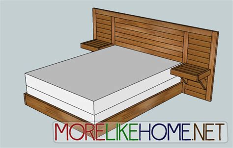 headboard building plans plans for platform bed with headboard woodworking diy