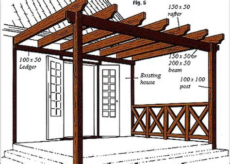 Pergola In Plan by 10 Diy Patio Pergola Plans Diy Ideas Tips
